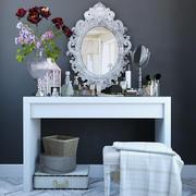 Dekorationssats för toalettbord 3d model
