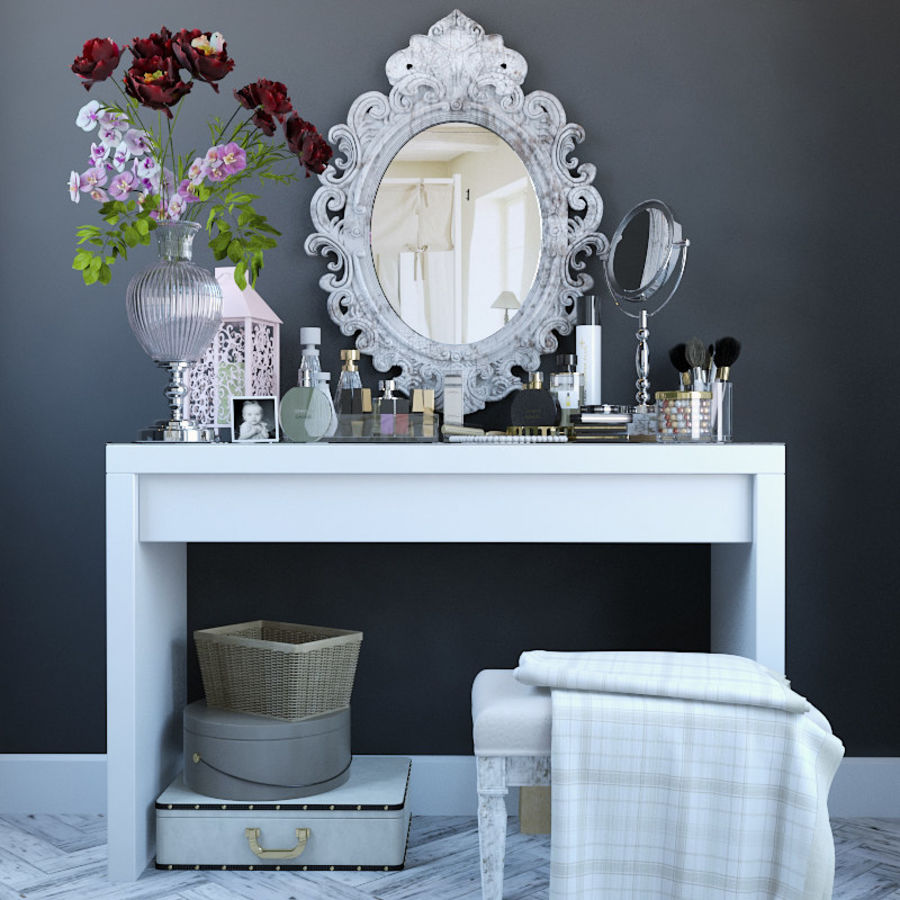 Dekorationssats för toalettbord royalty-free 3d model - Preview no. 1