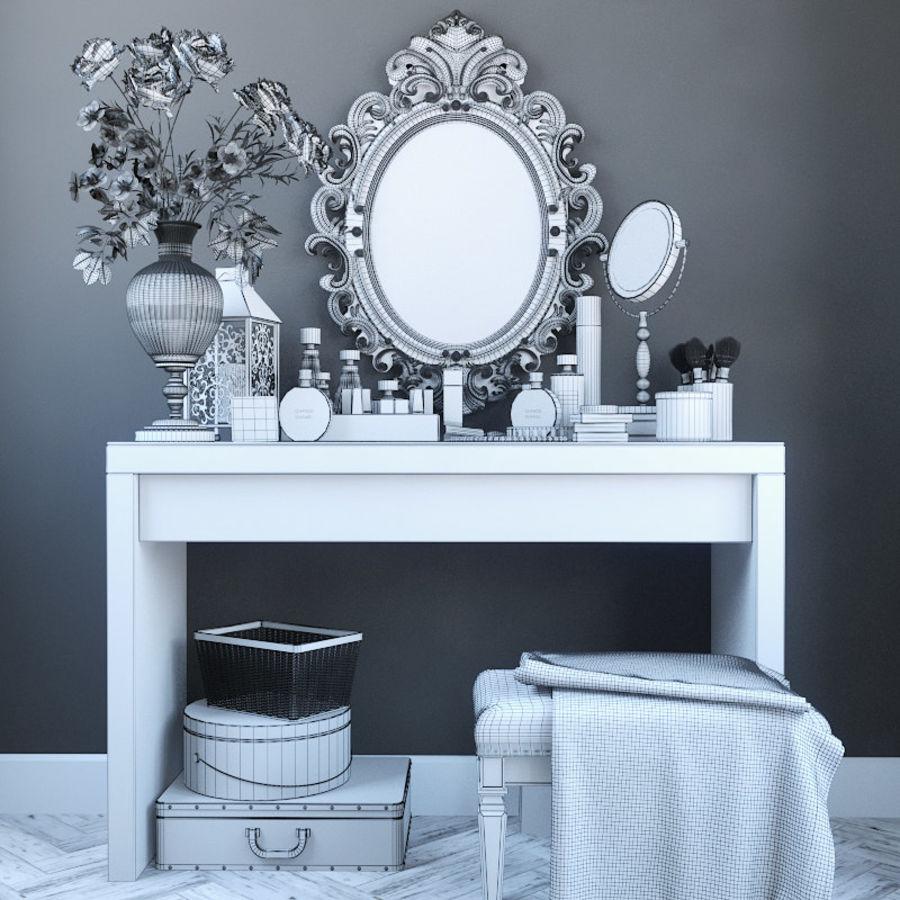 Dekorationssats för toalettbord royalty-free 3d model - Preview no. 4
