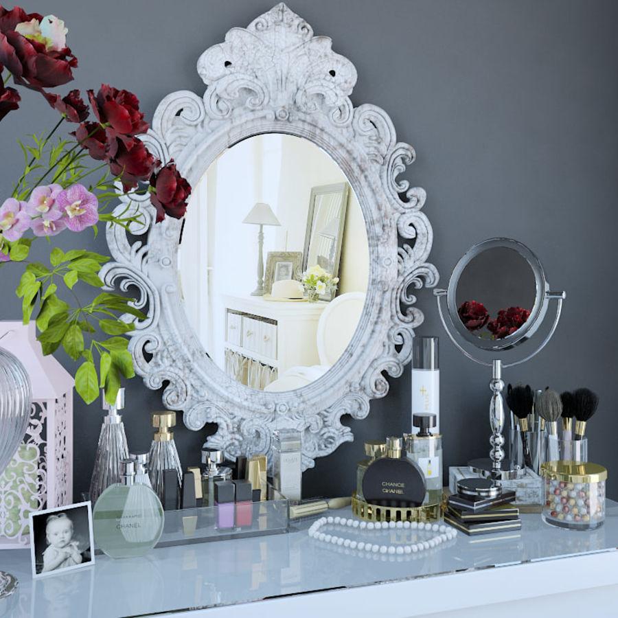 Dekorationssats för toalettbord royalty-free 3d model - Preview no. 3