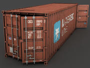 Cargo Container 40 feet long 3d model