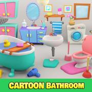 Salle de bain de dessin animé 3d model