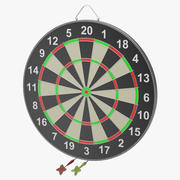 Dartboard and Darts 3d model