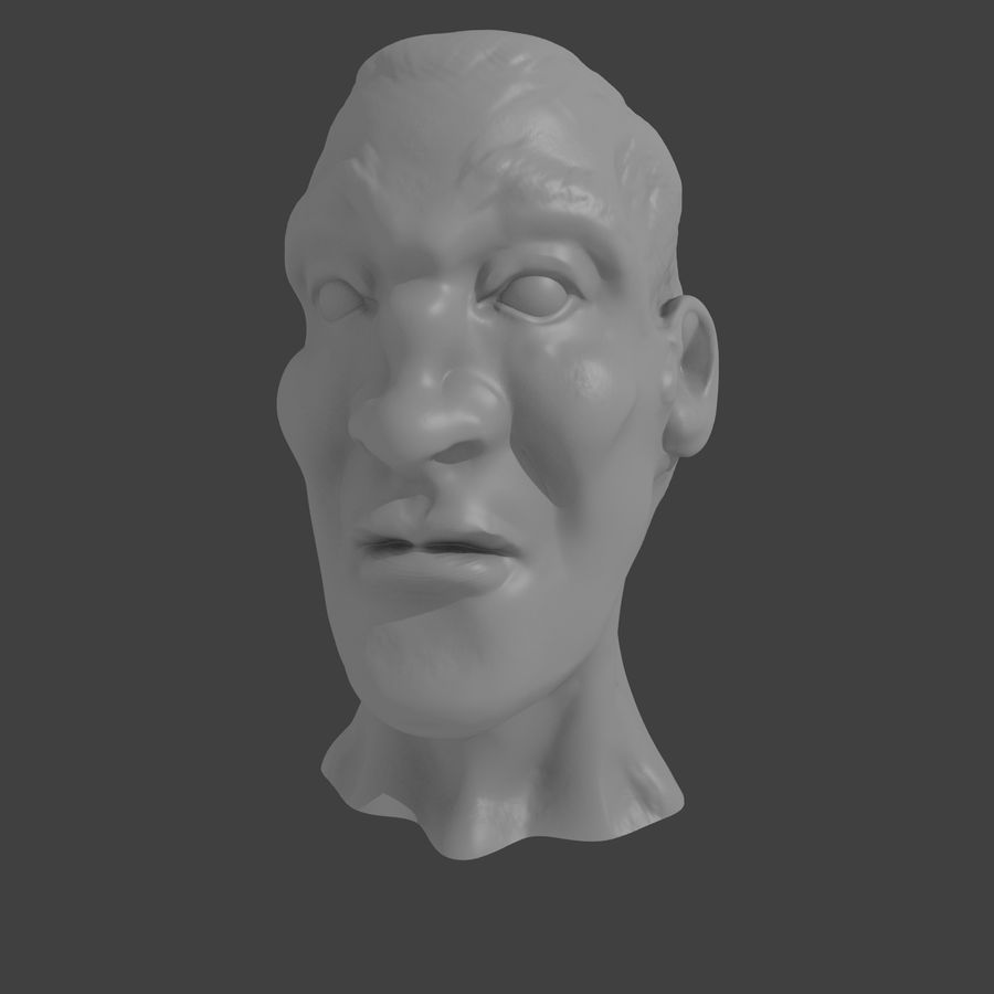 основное мужское лицо royalty-free 3d model - Preview no. 2
