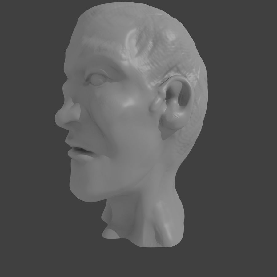 основное мужское лицо royalty-free 3d model - Preview no. 3