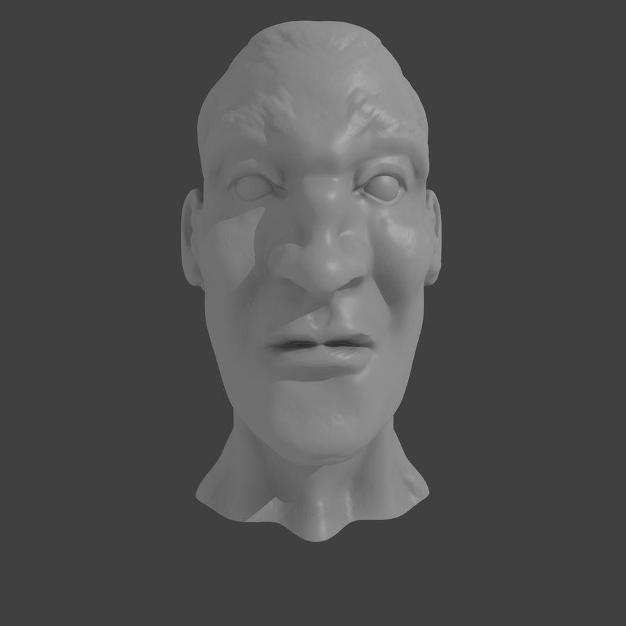 основное мужское лицо royalty-free 3d model - Preview no. 1