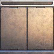 科幻墙板-PBR 3d model