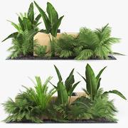 Canteiro de flores 3d model