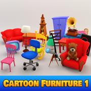 Muebles de dibujos animados 1 modelo 3d