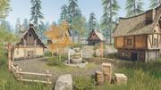 중세 주택과 소품-게임 소품 3d model