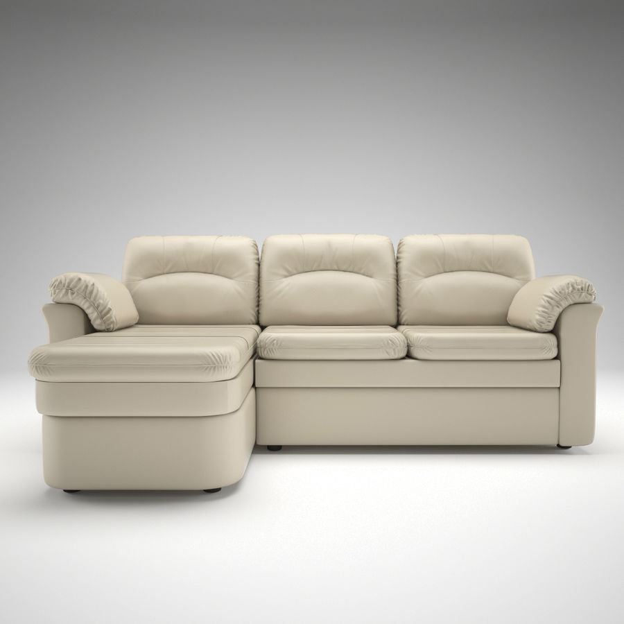 sofa narożna royalty-free 3d model - Preview no. 3