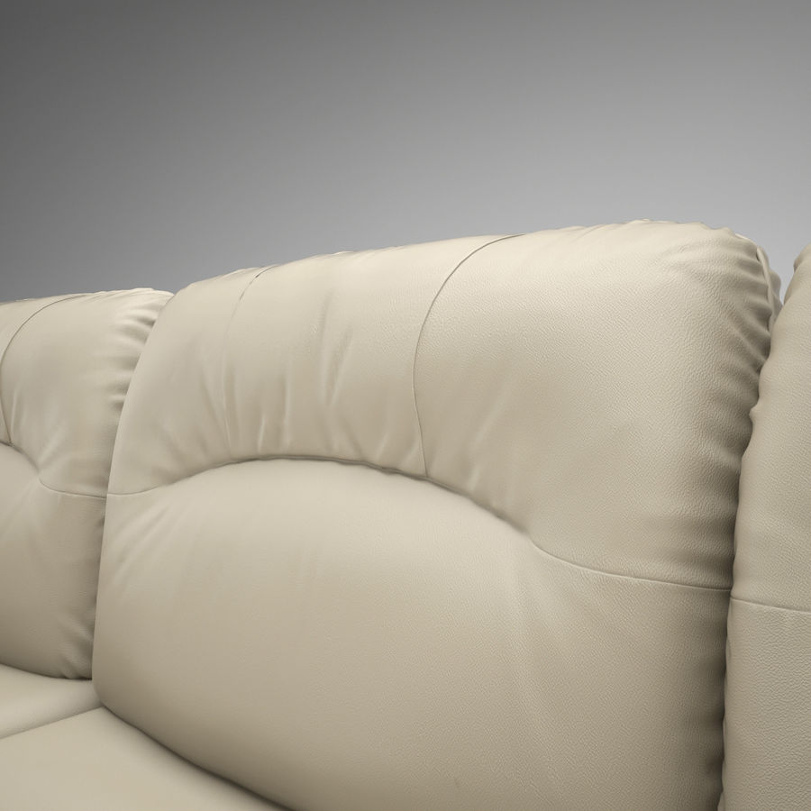 sofa narożna royalty-free 3d model - Preview no. 7