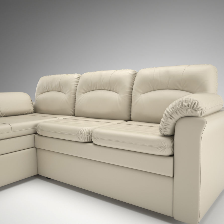sofa narożna royalty-free 3d model - Preview no. 2