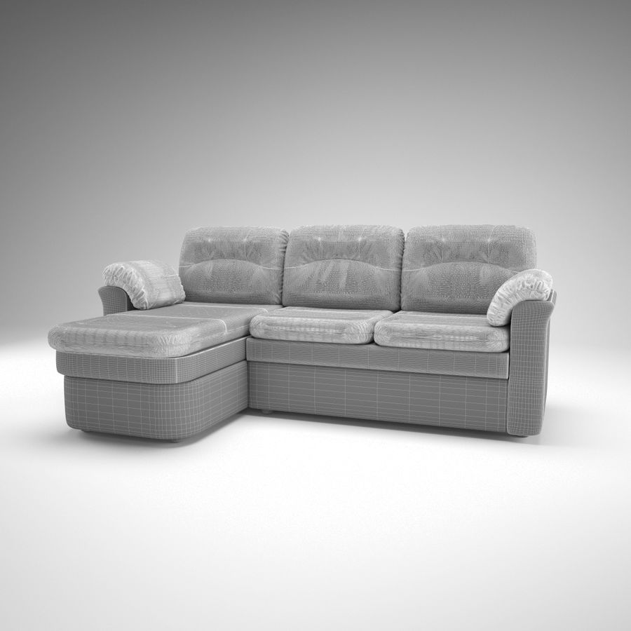 sofa narożna royalty-free 3d model - Preview no. 10