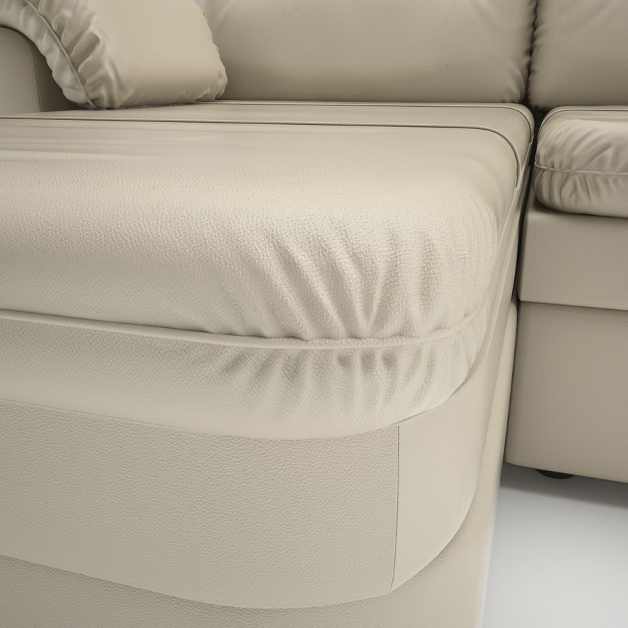 sofa narożna royalty-free 3d model - Preview no. 6