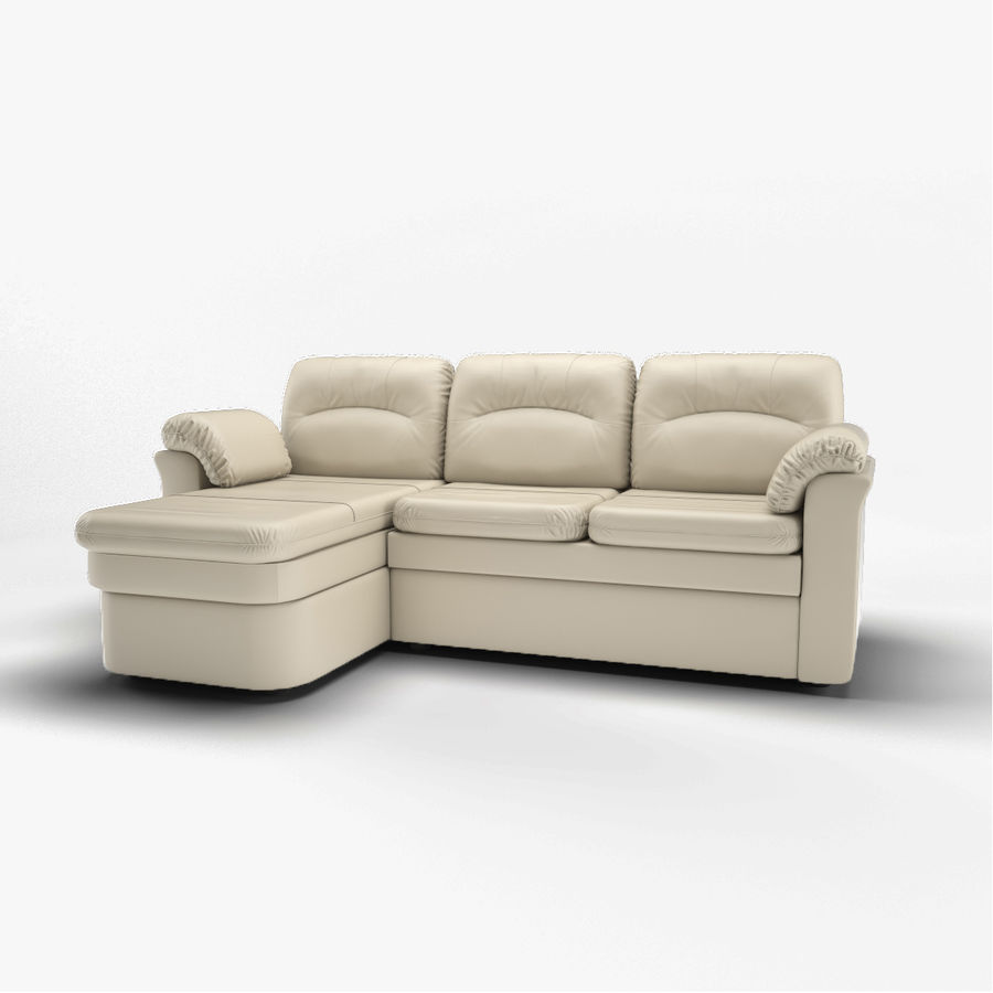 sofa narożna royalty-free 3d model - Preview no. 1
