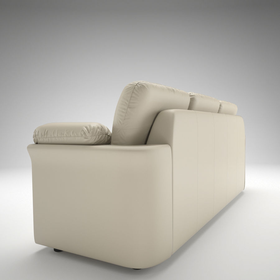 sofa narożna royalty-free 3d model - Preview no. 4