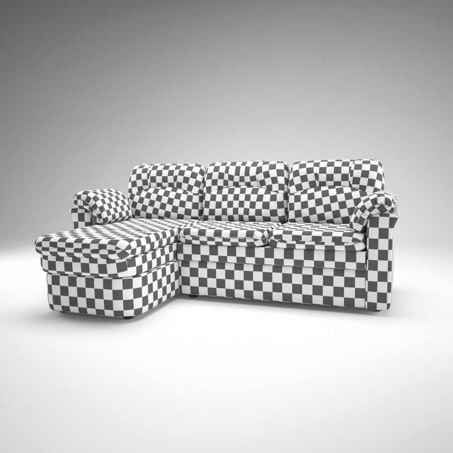 sofa narożna royalty-free 3d model - Preview no. 5