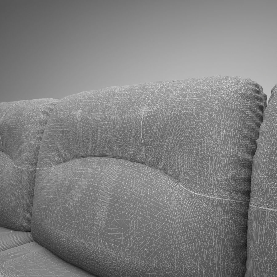 sofa narożna royalty-free 3d model - Preview no. 9