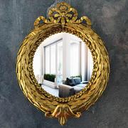 Espelho com ornamentos de ouro clássicos 3d model