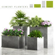 planter box cement 3d model