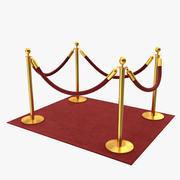 Röda mattan. stöttor 3d model