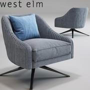 Roar Rabbit Swivel Chair_Imported_West Elm_Lichen 3d model