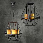 Chandelier Gem Hanging Light Fixture 3d model