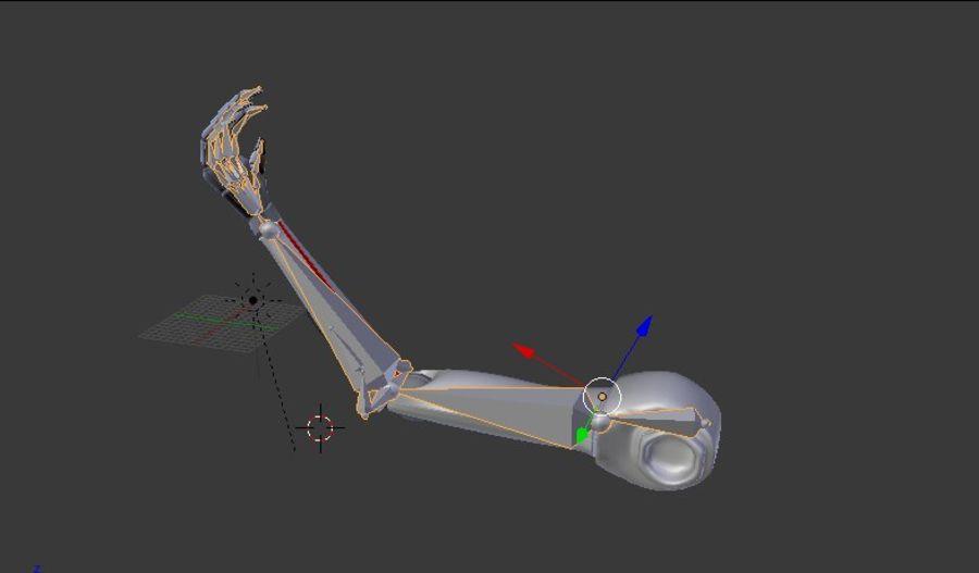 Dövüş robotu kolu royalty-free 3d model - Preview no. 9
