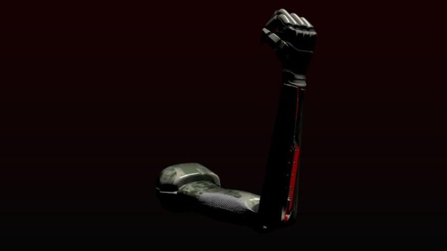 Dövüş robotu kolu royalty-free 3d model - Preview no. 3