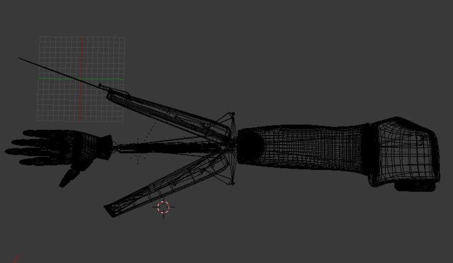 Dövüş robotu kolu royalty-free 3d model - Preview no. 8