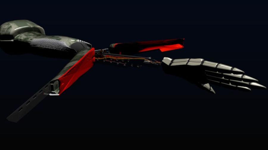 Dövüş robotu kolu royalty-free 3d model - Preview no. 4