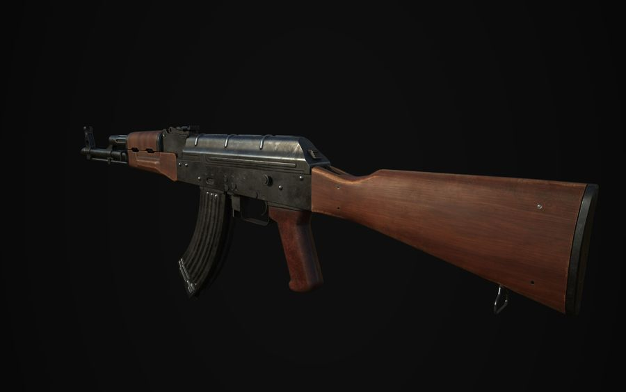 AK-47 royalty-free 3d model - Preview no. 2