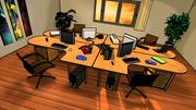 Office Room with furniture 3d model