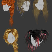 Hair Bundle 1 3d model
