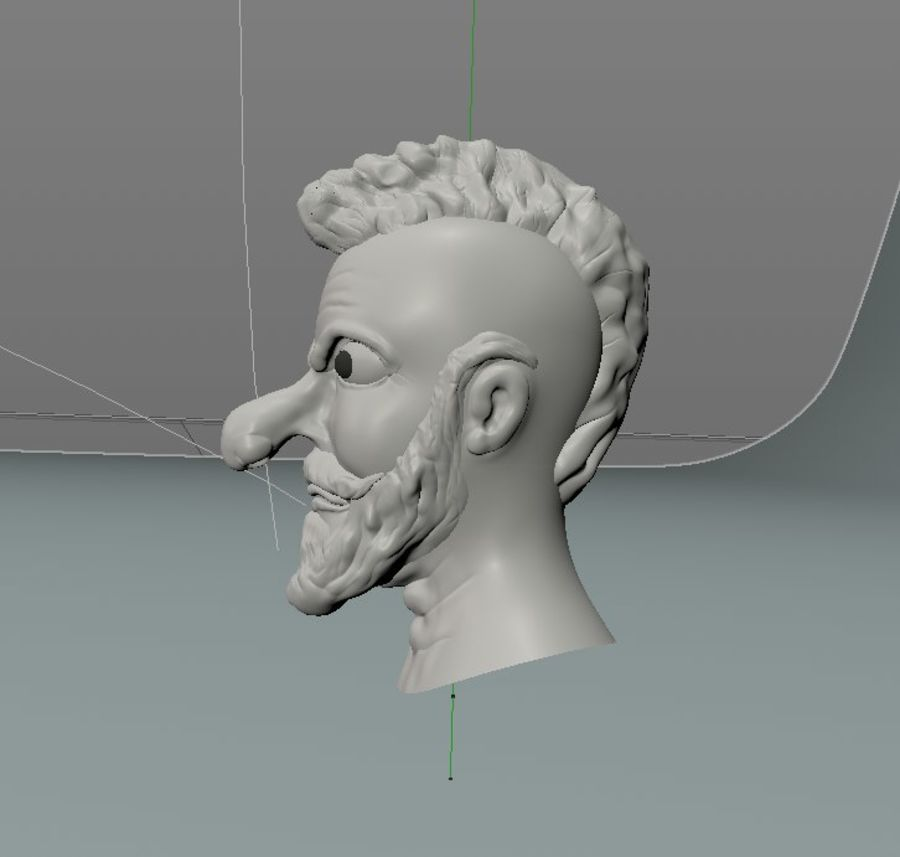 modélisation de personnages royalty-free 3d model - Preview no. 3