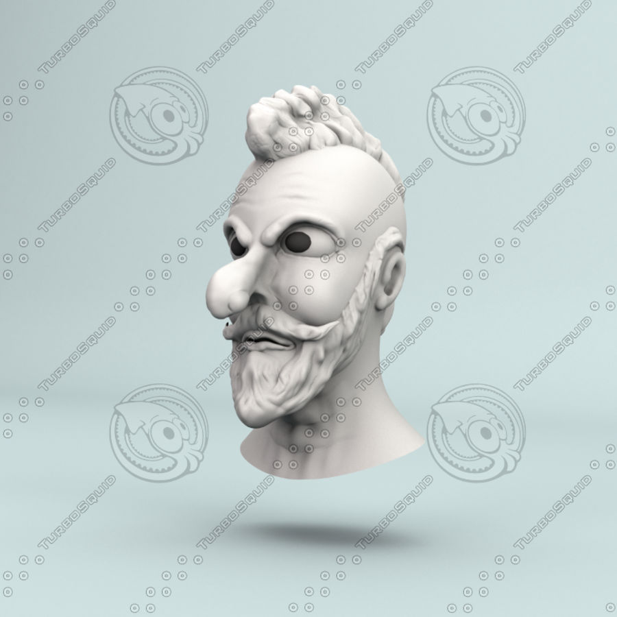 modélisation de personnages royalty-free 3d model - Preview no. 5