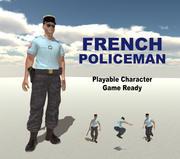 Poliziotto francese 3d model