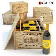 pudełka na wino 3d model