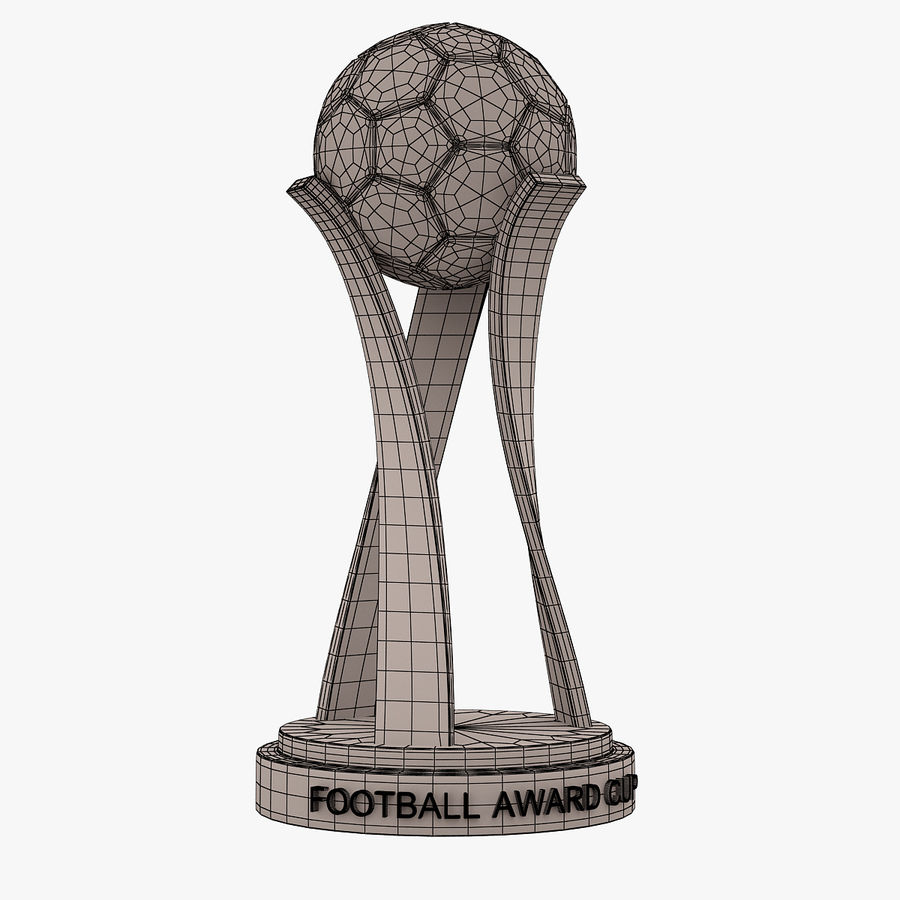 Football Award Cup 01 royalty-free 3d model - Preview no. 5