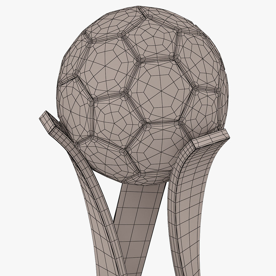 Football Award Cup 01 royalty-free 3d model - Preview no. 8
