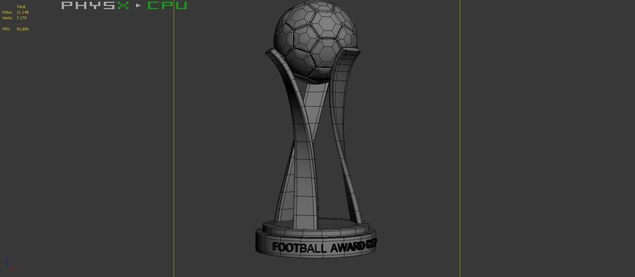 Football Award Cup 01 royalty-free 3d model - Preview no. 9