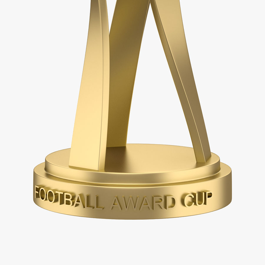 Football Award Cup 01 royalty-free 3d model - Preview no. 3