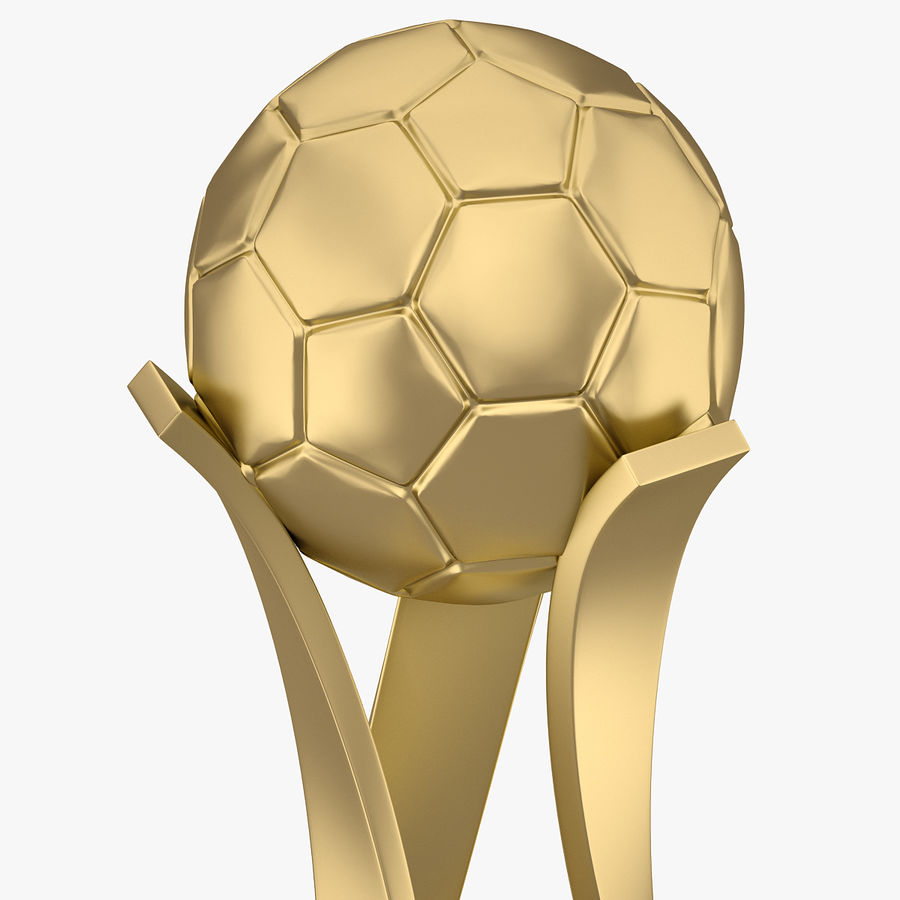 Football Award Cup 01 royalty-free 3d model - Preview no. 4