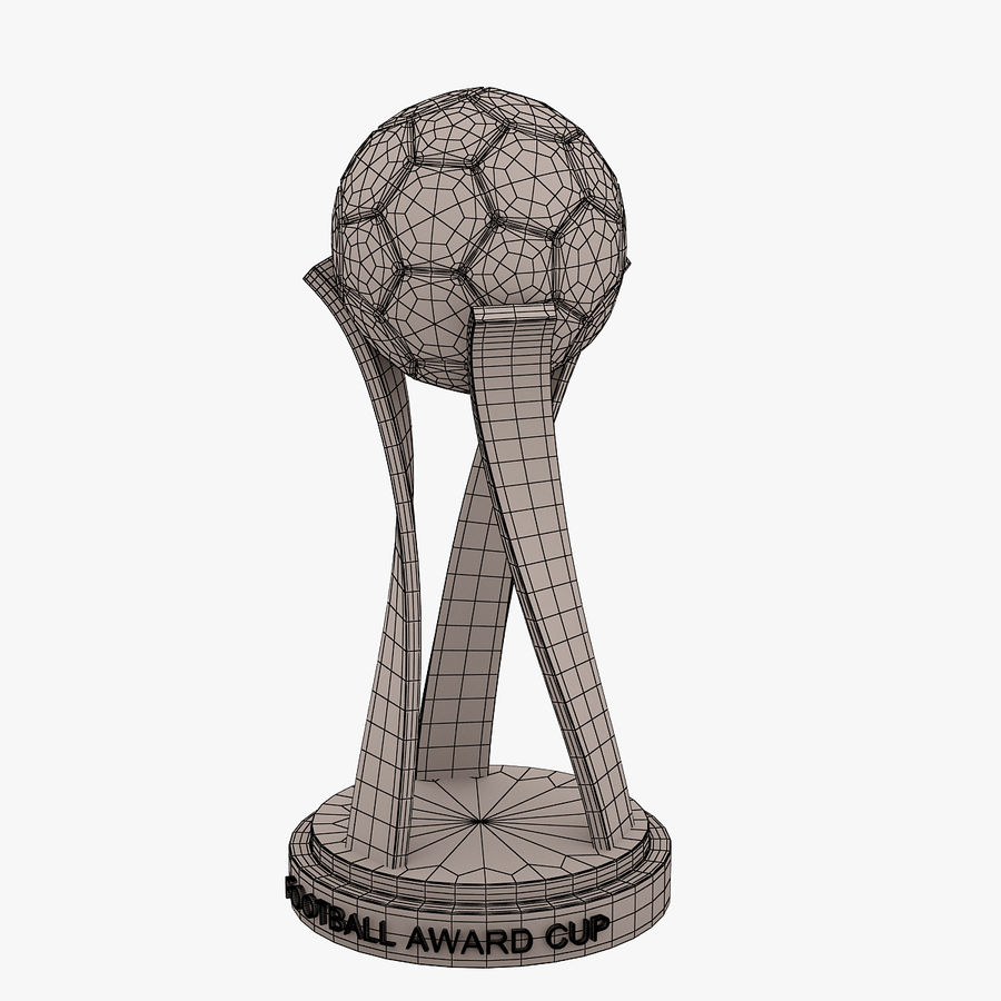 Football Award Cup 01 royalty-free 3d model - Preview no. 6