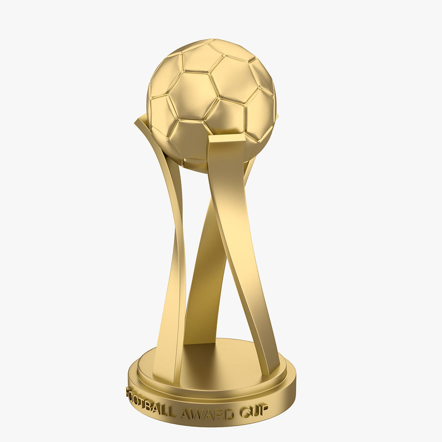 Football Award Cup 01 royalty-free 3d model - Preview no. 2