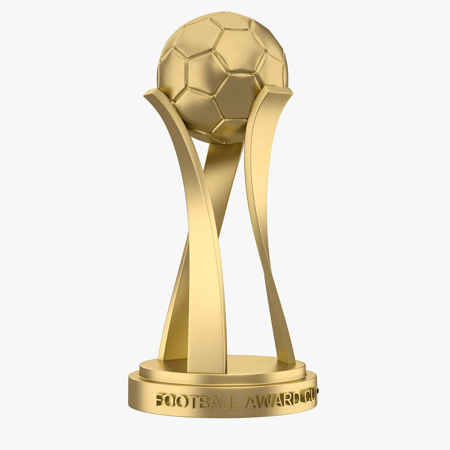 Football Award Cup 01 royalty-free 3d model - Preview no. 1