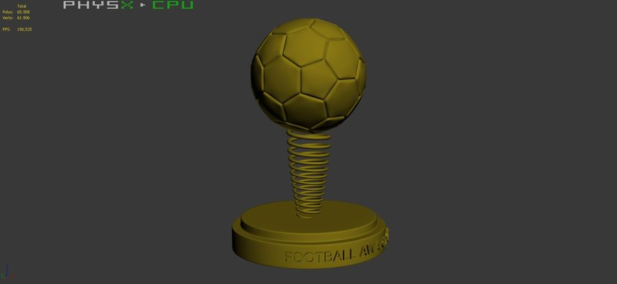 Football Award Cup 02 royalty-free 3d model - Preview no. 10