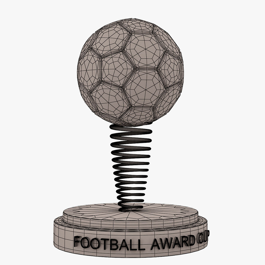 Football Award Cup 02 royalty-free 3d model - Preview no. 5