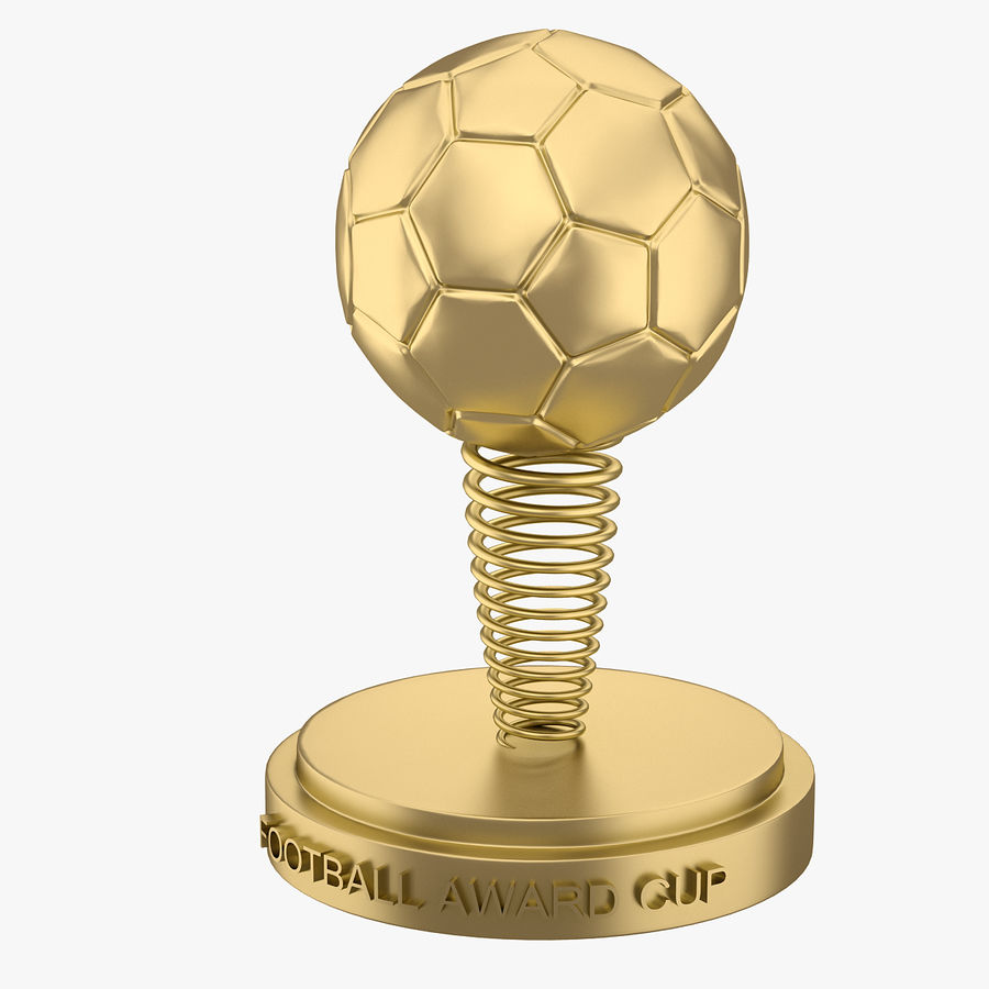 Football Award Cup 02 royalty-free 3d model - Preview no. 2